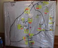 保健センターの管轄する地域の地図